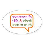 A Mini Philosophy Sticker (Oval)
