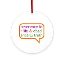A Mini Philosophy Ornament (Round)