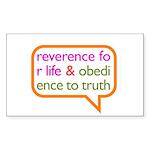 A Mini Philosophy Sticker (Rectangle)