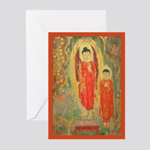 Elephants and Lotus Flower Greeting Cards (P10)
