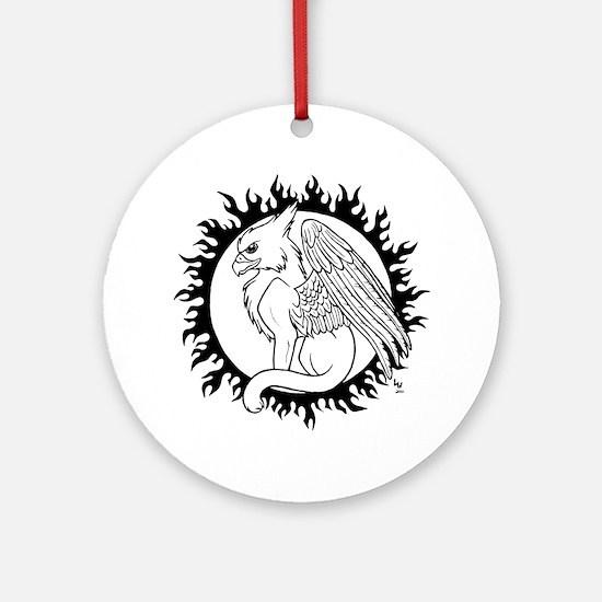 Sun Gryphon Ornament (Round)