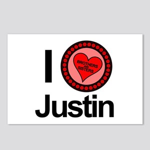 I Love Justin Brothers & Sisters Postcards (Packag
