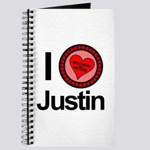 I Love Justin Brothers & Sisters Journal