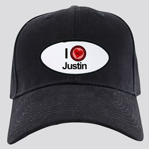 I Love Justin Brothers & Sisters Black Cap