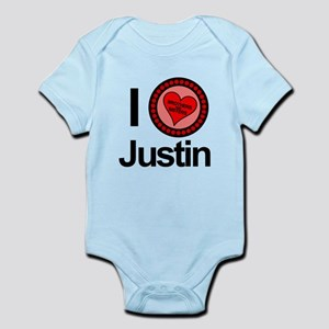 I Love Justin Brothers & Sisters Infant Bodysuit