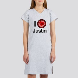 I Love Justin Brothers & Sisters Women's Nightshir