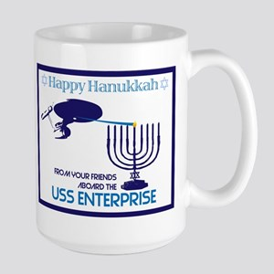 Enterprise Hanukkah Star Trek Large Mug