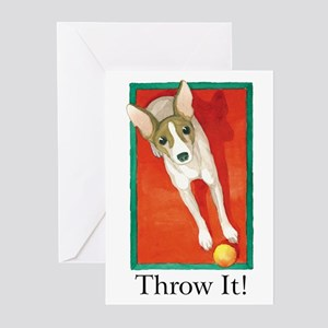 """THROW IT!"" (with copy) Greeting Cards (Package of"