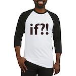 if?! white/brown Baseball Jersey