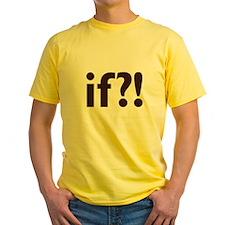 if?! white/brown Yellow T-Shirt