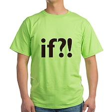 if?! white/brown Green T-Shirt