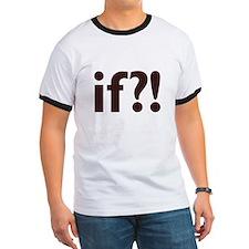 if?! white/brown Ringer T