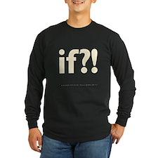 if?! white/brown Long Sleeve Dark T-Shirt