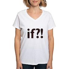 if?! white/brown Women's V-Neck T-Shirt