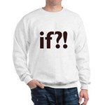 if?! white/brown Sweatshirt