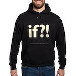 if?! white/brown Hoodie (dark)