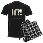 if?! white/brown Men's Dark Pajamas
