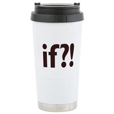 if?! white/brown Stainless Steel Travel Mug