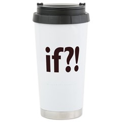 if?! white/brown Stainless Steel Travel Mug