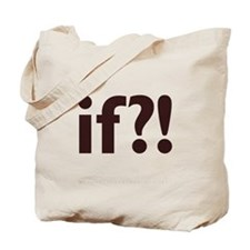 if?! white/brown Tote Bag