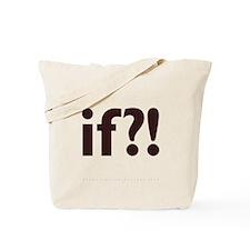 if?! white/brown Tote Bag