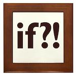 if?! white/brown Framed Tile
