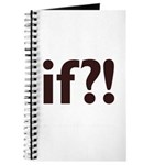 if?! white/brown Journal