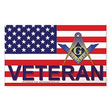Masonic Veterans Sticker (Rectangle)
