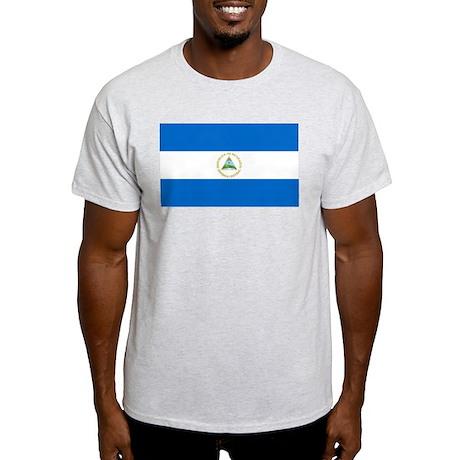 Flag of Nicaragua Ash Grey T-Shirt
