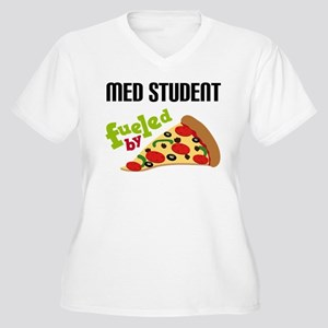 Med Student Funny Pizza Women's Plus Size V-Neck T
