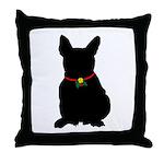 Christmas or Holiday French Bulldog Silhouette Thr