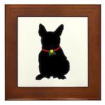 Christmas or Holiday French Bulldog Silhouette Fra