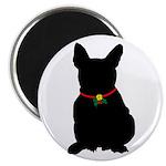 Christmas or Holiday French Bulldog Silhouette Mag