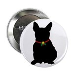 Christmas or Holiday French Bulldog Silhouette 2.2