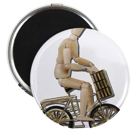"""Riding Bicycle with Basket 2.25"""" Magnet (100 pack)"""