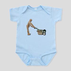 Pushing Lawnmower Infant Bodysuit