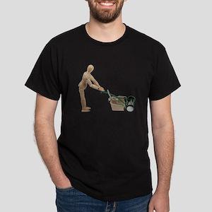 Pushing Lawnmower Dark T-Shirt