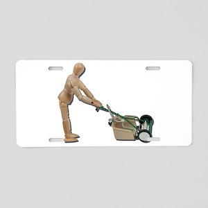 Pushing Lawnmower Aluminum License Plate