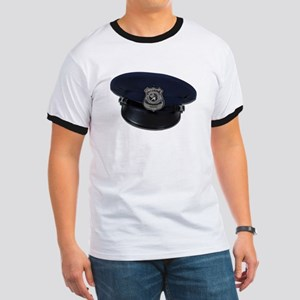 Police Badge Cap Ringer T