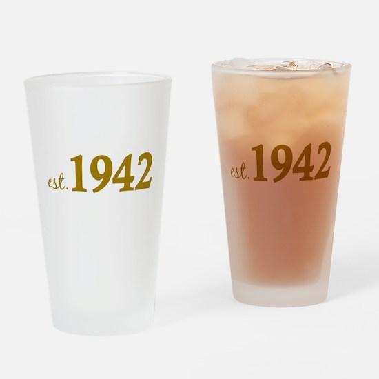 Est. 1942 (Birth Year) Drinking Glass