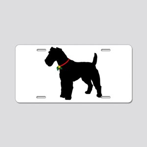 Christmas or Holiday Fox Terrier Silhouette Alumin