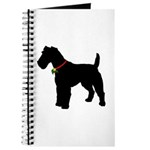 Christmas or Holiday Fox Terrier Silhouette Journa
