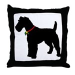 Christmas or Holiday Fox Terrier Silhouette Throw