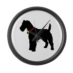Christmas or Holiday Fox Terrier Silhouette Large