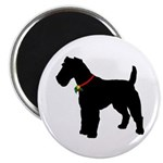 Christmas or Holiday Fox Terrier Silhouette Magnet