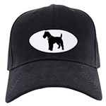 Christmas or Holiday Fox Terrier Silhouette Black