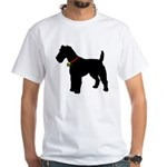 Christmas or Holiday Fox Terrier Silhouette White