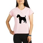 Christmas or Holiday Fox Terrier Silhouette Perfor