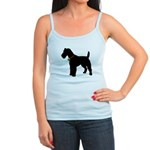 Christmas or Holiday Fox Terrier Silhouette Jr. Sp