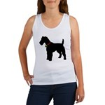 Christmas or Holiday Fox Terrier Silhouette Women'